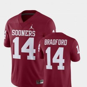Crimson Sooner Sam Bradford Jersey Alumni Football Game #14 For Men NCAA Player 272346-751