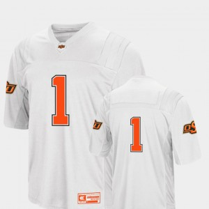College Football #1 White Colosseum 2018 University Men OK State Jersey 214933-418