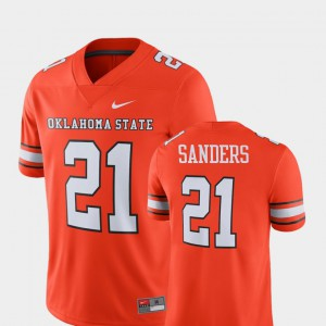 Oklahoma State University Barry Sanders Jersey #21 Orange Player Men Alumni Alumni Football Game 991707-907