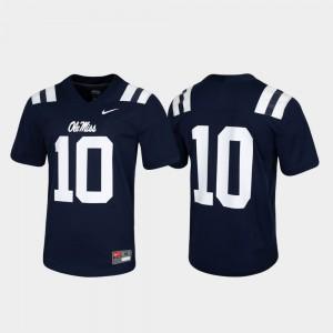 #10 Mens Game Rebels Jersey Untouchable Alumni Navy 693484-569