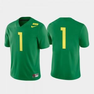 College Football College University of Oregon Jersey Game Apple Green Men #1 660515-947