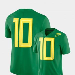 Apple Green Mens #10 Oregon Ducks Jersey Player 2018 Mighty Oregon Football Limited 797272-195