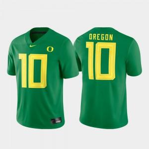 Game For Men High School Green #10 Football Ducks Jersey 163363-334