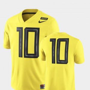 #10 High School University of Oregon Jersey Men's 2018 Mighty Oregon Football Game Yellow 740262-185