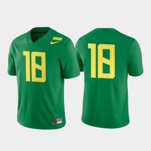 Mens College Football NCAA Ducks Jersey #18 Apple Green Game Authentic 884040-678