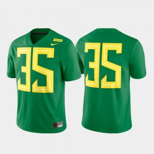For Men's Official Football Limited Green #35 Oregon Ducks Jersey 627646-728