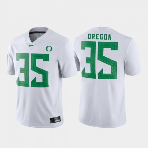 Game For Men Oregon Jersey #35 Football White Embroidery 131363-235