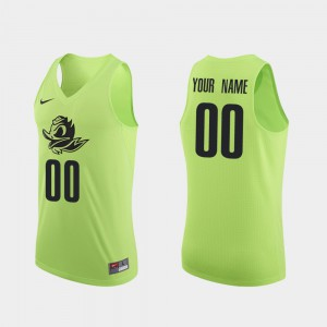 #00 College Basketball Apple Green Oregon Ducks Custom Jerseys College Authentic Men 785768-559