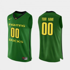 Alumni For Men's Oregon Duck Customized Jersey College Basketball Apple Green Authentic #00 228018-352