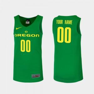 Alumni Replica University of Oregon Custom Jersey College Basketball Green #00 For Men 841890-760