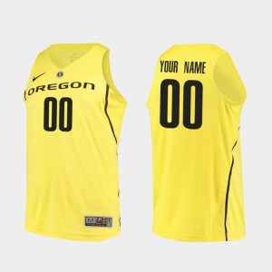 College Basketball For Men's #00 Authentic NCAA UO Customized Jerseys Yellow 572382-559
