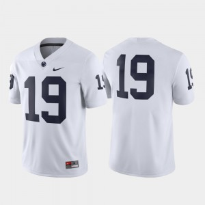 White For Men Game #19 Football Embroidery Nittany Lions Jersey 403558-750