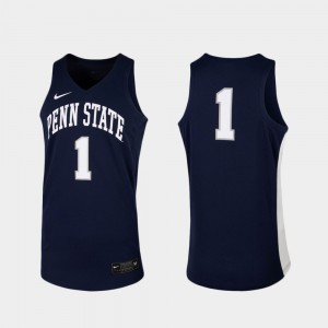 For Men Replica Official Navy PSU Jersey #1 College Basketball 740638-164