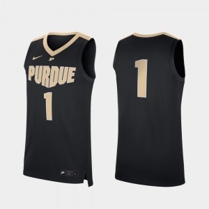 Purdue Jersey Black Replica College Basketball #1 Stitched For Men 681613-274