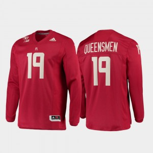 Rutgers Scarlet Knights Jersey 150th Anniversary For Men's #19 Strategy Long Sleeve College Football Scarlet Stitch 624939-611