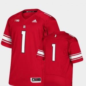Scarlet Premier Rutgers University Jersey College Football #1 College For Men 619472-627