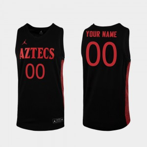 Mens #00 Replica Black College Basketball Embroidery San Diego State Customized Jersey 512444-506