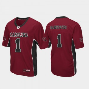 Max Power South Carolina Jersey #1 Men's Garnet Football Stitch 590926-269