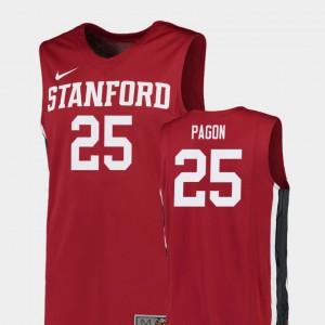 University College Basketball Red Replica #25 Men Cardinal Blake Pagon Jersey 872644-954