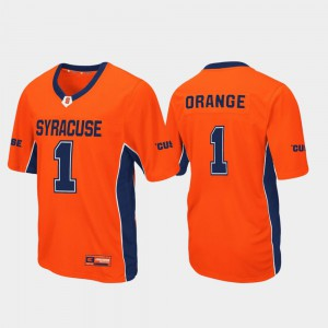 Orange Syracuse Jersey Stitched #1 Football Mens Max Power 560204-225