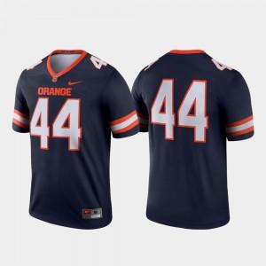 Orange Jersey Men's Navy #44 Legend Alumni College Football 706976-971