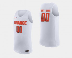 Syracuse Custom Jersey #00 White For Men's College Basketball Embroidery 749353-809