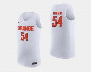 College Basketball #54 University Orange Ky Feldman Jersey Men's White 126346-856