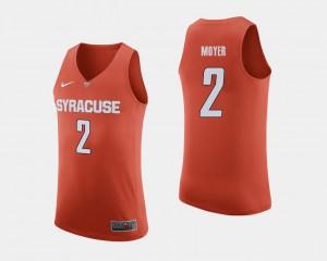 #2 Alumni Syracuse Orange Matthew Moyer Jersey Orange College Basketball For Men 115073-355
