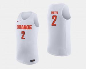 College Basketball Cuse Matthew Moyer Jersey Stitch White For Men #2 349225-275