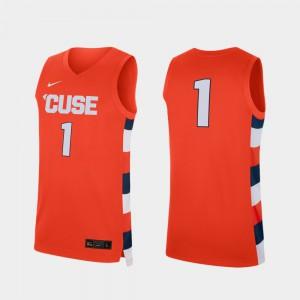 Replica Men's Embroidery Orange #1 College Basketball Syracuse Orange Jersey 730740-117