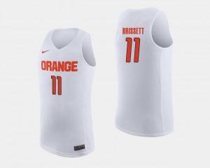 Stitch Mens White Syracuse Oshae Brissett Jersey #11 College Basketball 261413-705