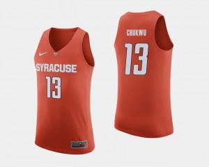 Player Orange Orange Paschal Chukwu Jersey #13 Men's College Basketball 979101-706