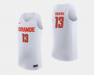 Cuse Paschal Chukwu Jersey #13 College Basketball White Men Embroidery 505475-745
