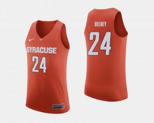 Orange Syracuse University Shaun Belbey Jersey Men College Basketball Embroidery #24 393822-425
