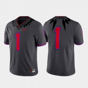 Men Alternate Football Gray #1 Limited Texas Christian University Jersey Official 874337-282