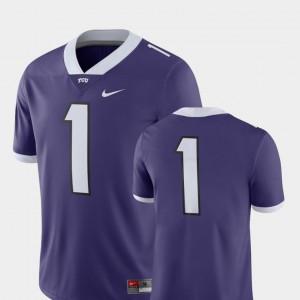 For Men's College Football #1 2018 Game Alumni Texas Christian University Jersey Purple 933141-859