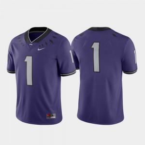 TCU Jersey Game Mens Purple #1 College Football Player 352704-991