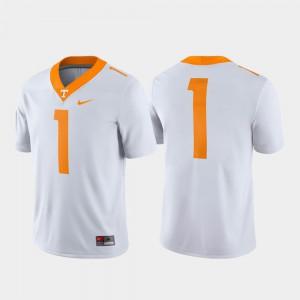 Men's #1 Official White UT VOL Jersey Game 292251-734