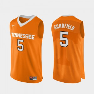 Orange Tennessee Volunteers Admiral Schofield Jersey For Men's Authentic Performace College Basketball #5 Alumni 370024-617