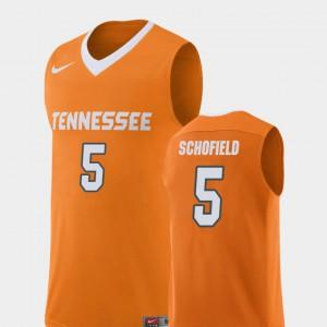 High School Replica College Basketball Men's Orange UT VOLS Admiral Schofield Jersey #5 796258-457