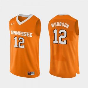Authentic Performace UT VOLS Brad Woodson Jersey Stitch #12 Men Orange College Basketball 670462-936