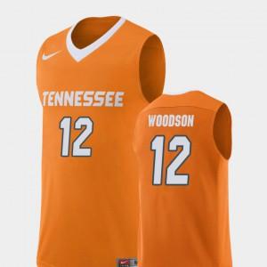College Basketball Mens Replica College UT VOL Brad Woodson Jersey Orange #12 988893-809