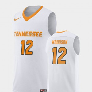 Mens College Basketball Replica VOL Brad Woodson Jersey #12 White NCAA 937118-819