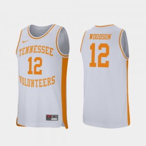 Tennessee Brad Woodson Jersey Men Alumni College Basketball White #12 Retro Performance 950127-974