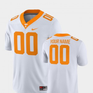 White 2018 Game #00 Official UT Volunteer Customized Jersey Mens College Football 791019-218