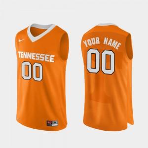 #00 Orange NCAA Authentic Performace UT VOL Customized Jerseys College Basketball Men 314354-791