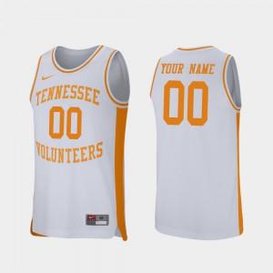 College Basketball #00 UT VOL Customized Jerseys Mens Retro Performance White Stitched 804428-526