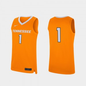 #1 Tennessee Orange College Basketball Replica Stitched For Men Tennessee Vols Jersey 875160-965