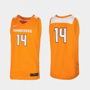 Men's Tennessee Orange Replica College Basketball University #14 Tennessee Volunteers Jersey 346151-812