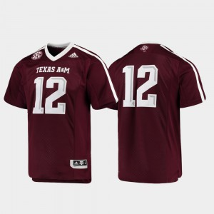 Texas A&M Jersey Premier #12 Stitched Maroon For Men Football 211795-290
